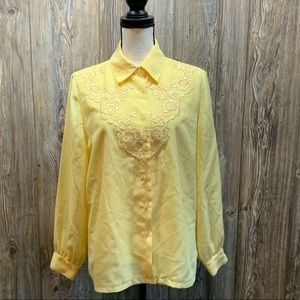 Together Classics yellow button up blouse